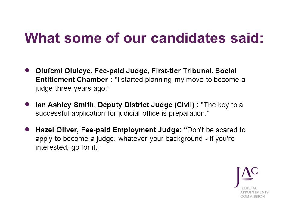 What some of our candidates said: