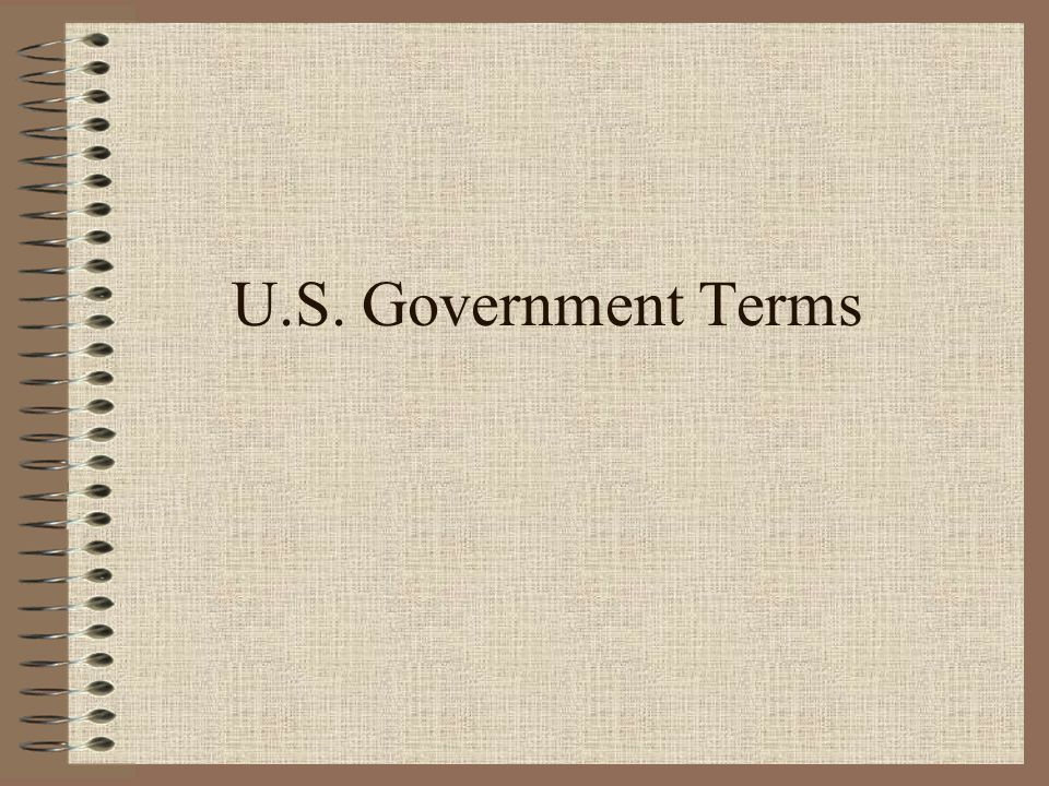 U.S. Government Terms