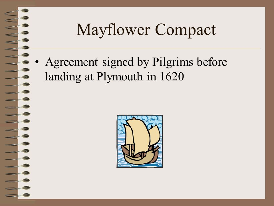 Mayflower Compact Agreement signed by Pilgrims before landing at Plymouth in 1620