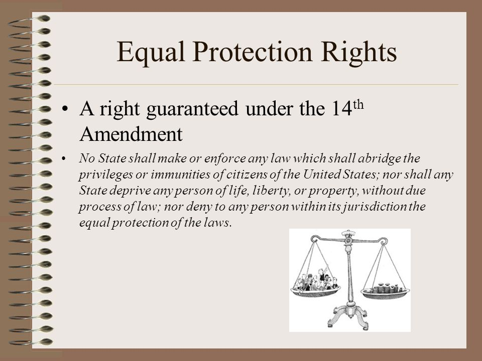Equal Protection Rights