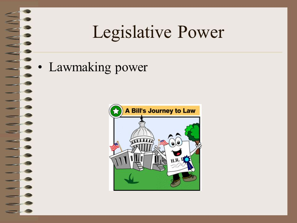 Legislative Power Lawmaking power.