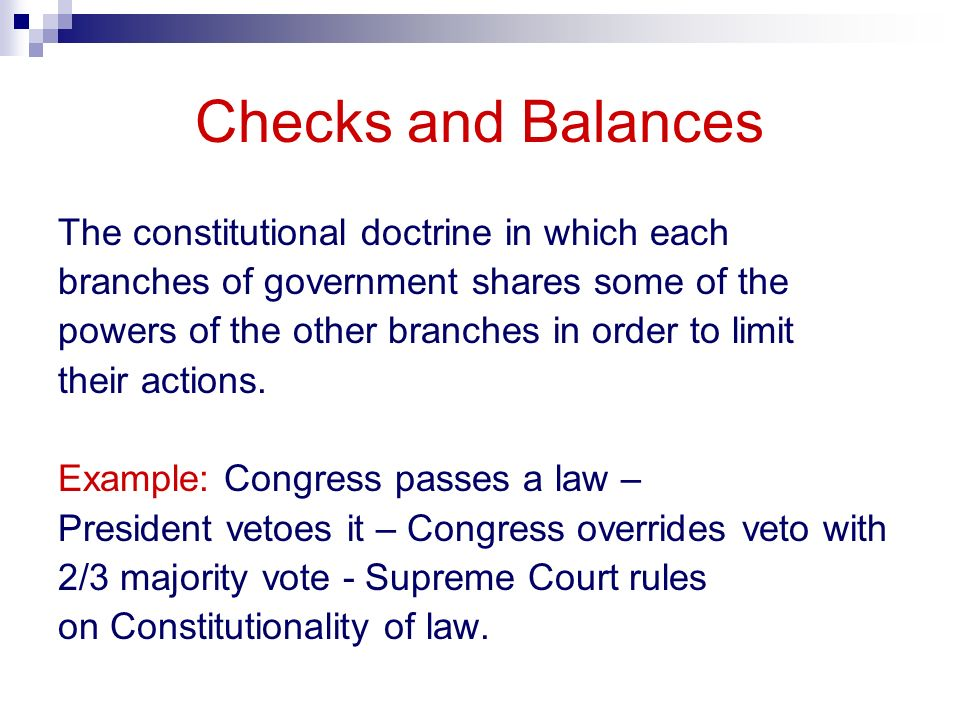 Three Branches Of The Us Government Checks And Balances Ppt