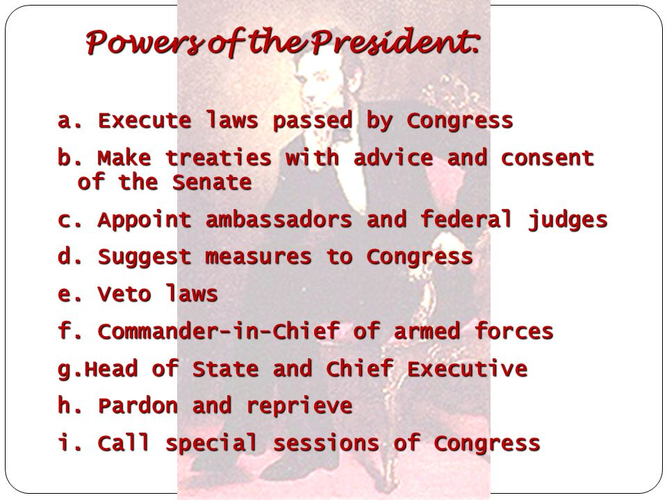 Powers of the President: