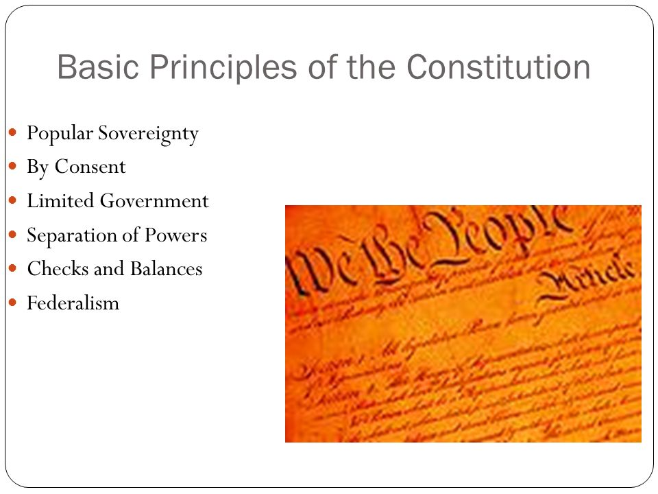Basic Principles of the Constitution