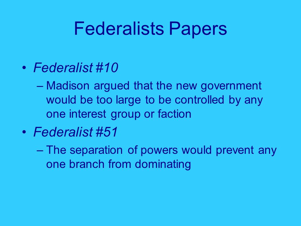 federalist 10 and 51