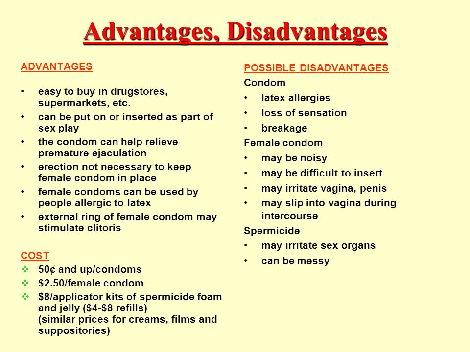Advantages and disadvantages of anal sex