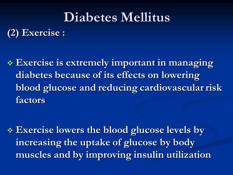 Diabetes Mellitus (2) Exercise :
