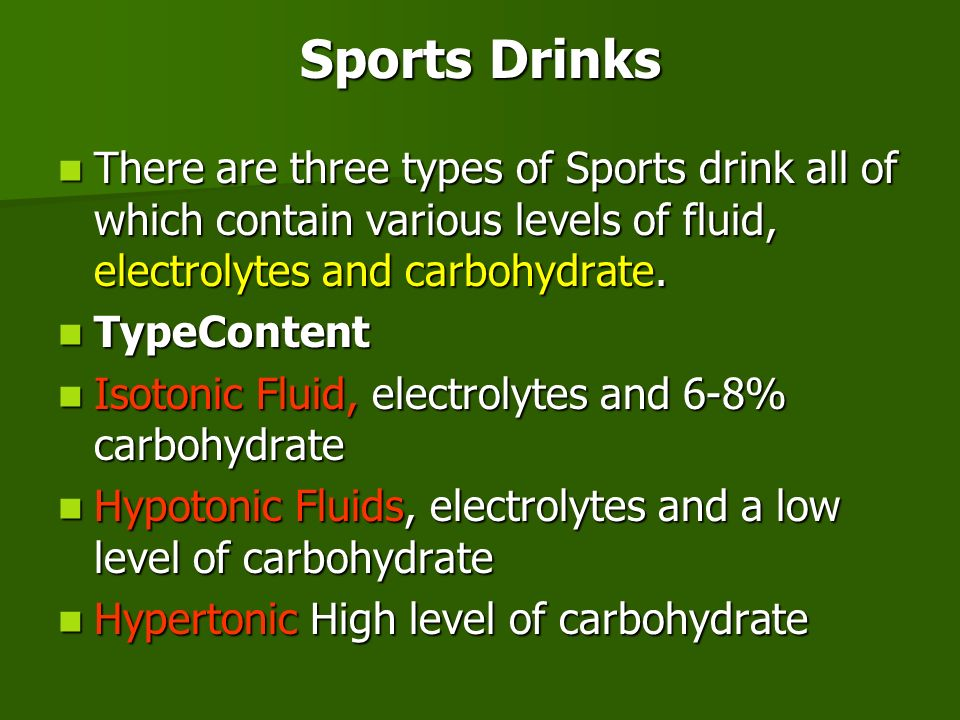 3 types of sports