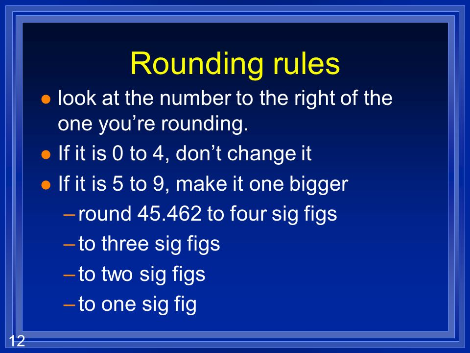 Rounding rules look at the number to the right of the one you're rounding. If it is 0 to 4, don't change it.