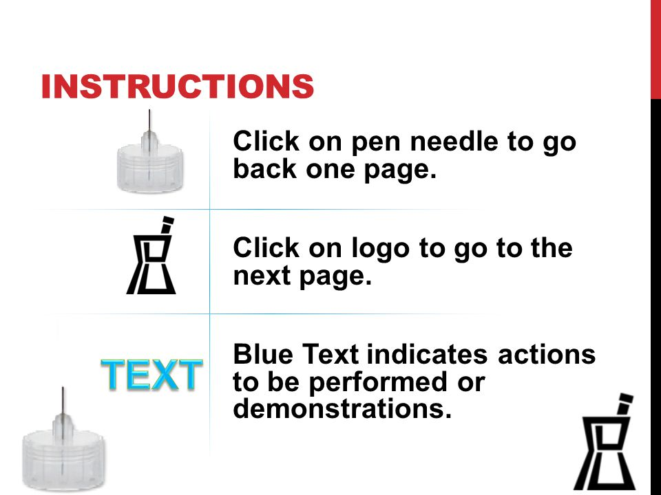 Insulin Pens An Interactive Instructional Module On The Correct