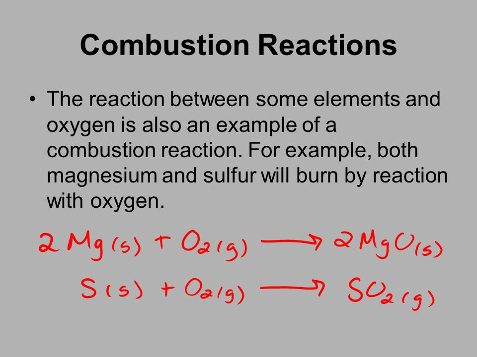 Example Of Combustion Reaction Gallery Example Cover Letter For Resume