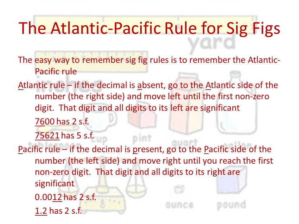 The Atlantic-Pacific Rule for Sig Figs