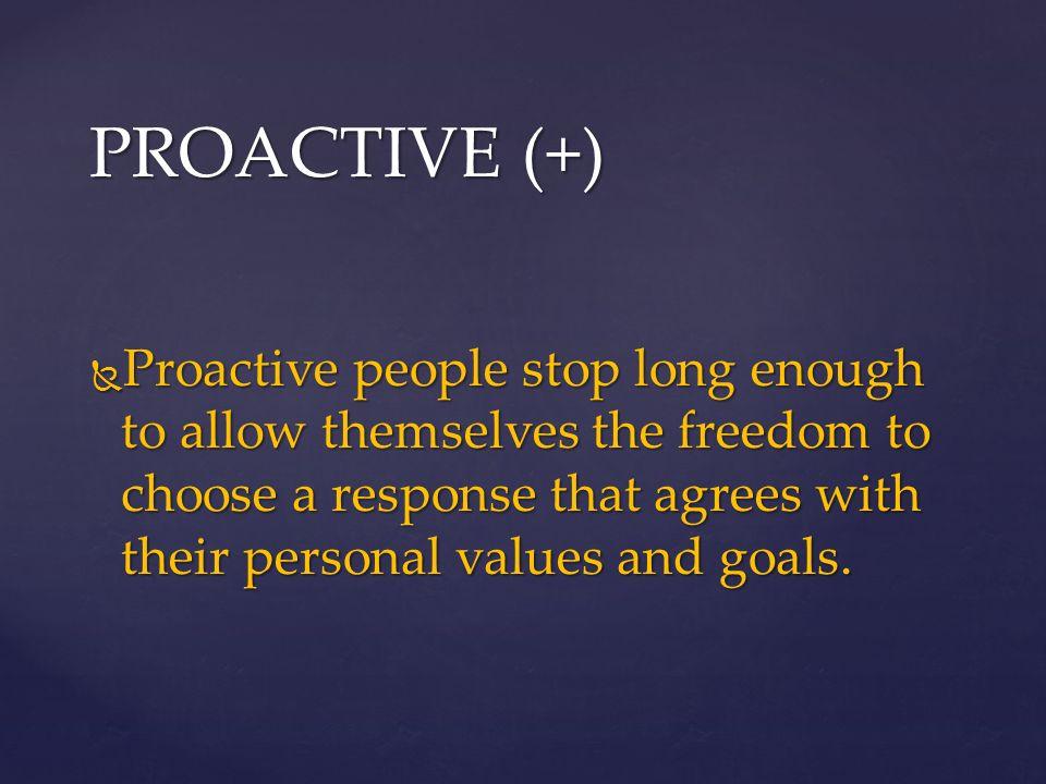 4 PROACTIVE Proactive People Stop Long
