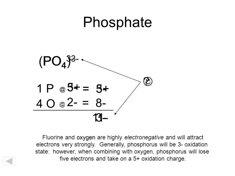 Po4 Charge: Chemical Bonds.