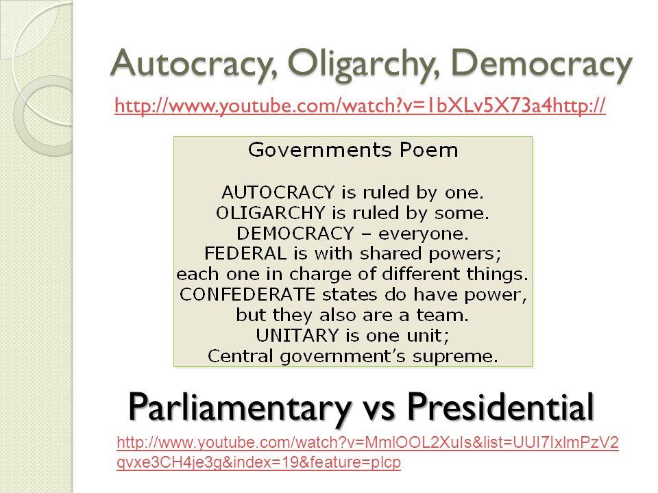 parliamentary government vs presidential government pdf