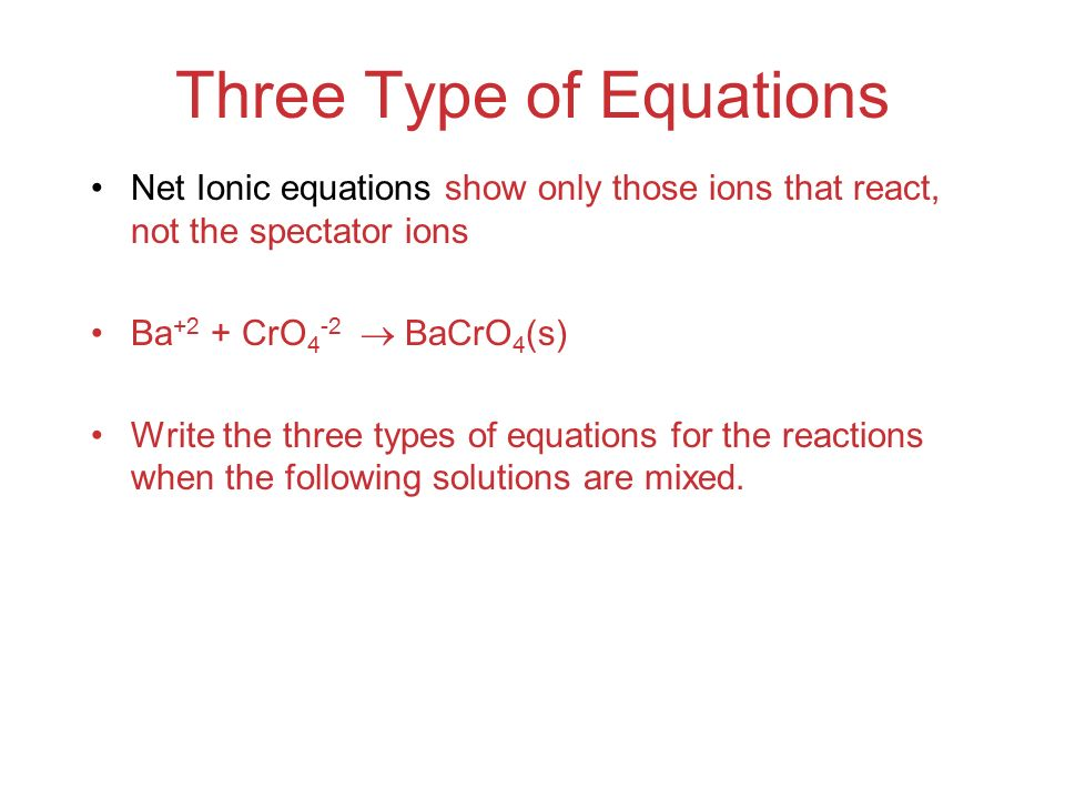 Three Type of Equations