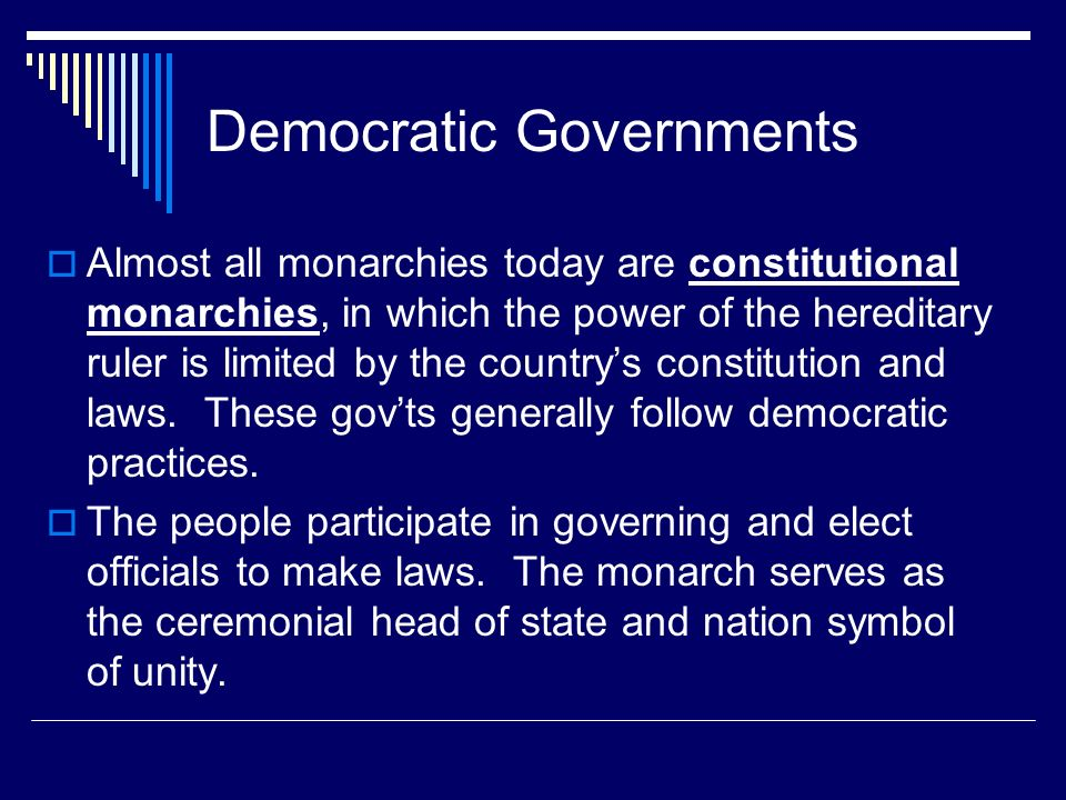 Democratic Governments