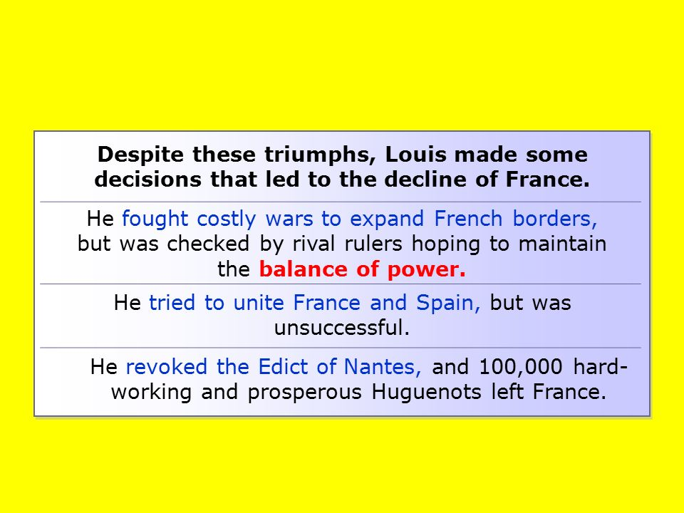 He tried to unite France and Spain, but was unsuccessful.