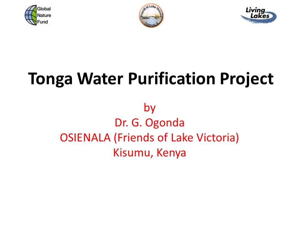 Tonga Water Purification Project - ppt download