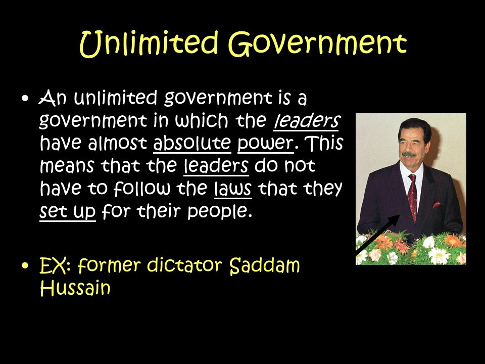 Unlimited Government
