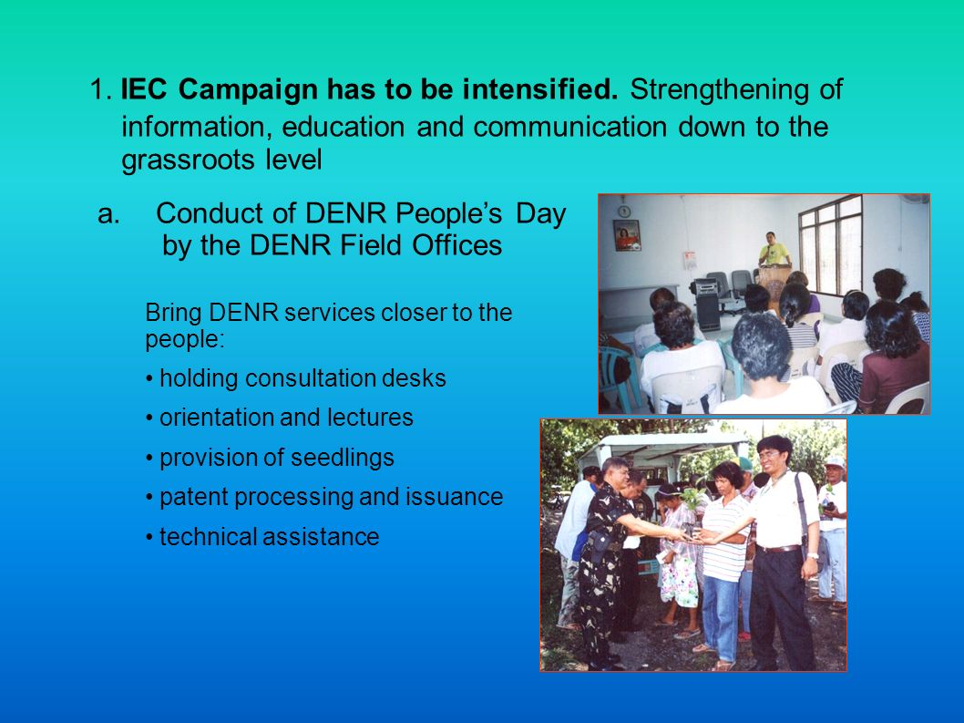 Conduct of DENR People's Day by the DENR Field Offices