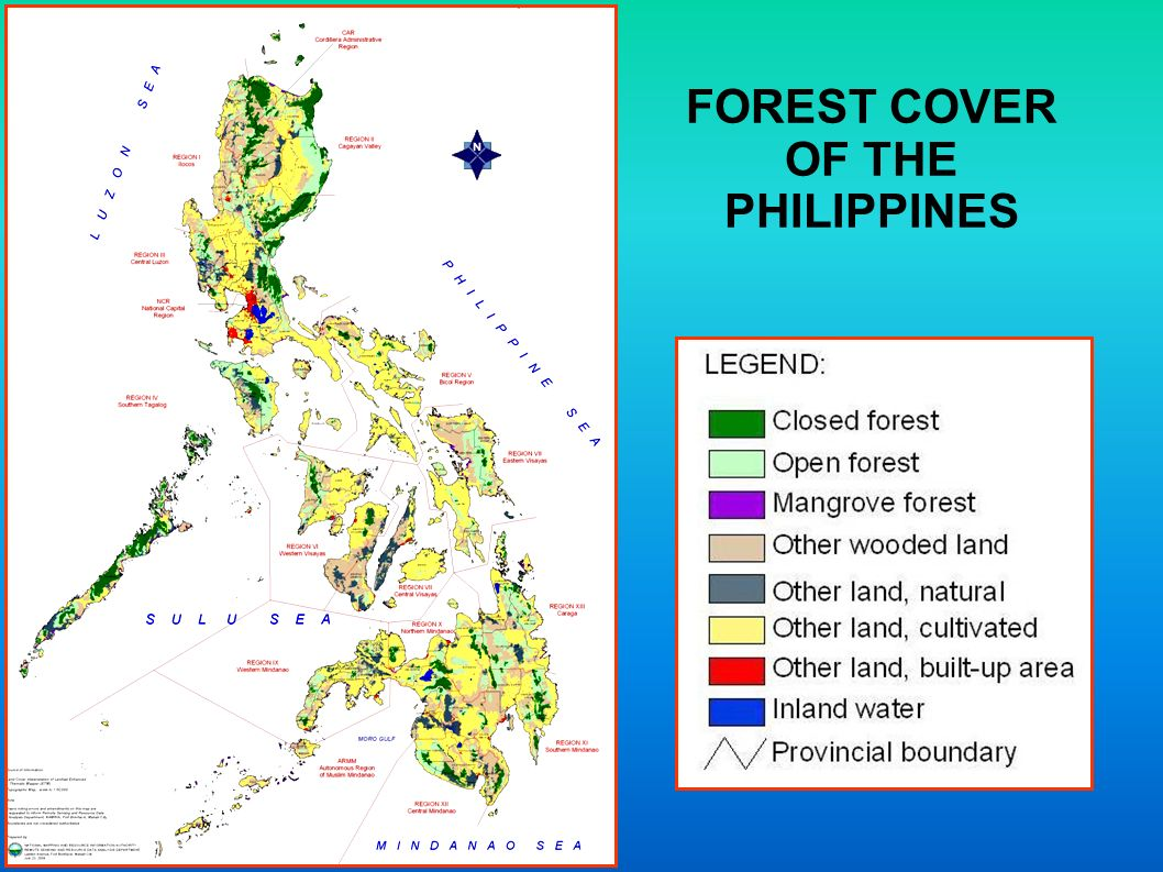 FOREST COVER OF THE PHILIPPINES