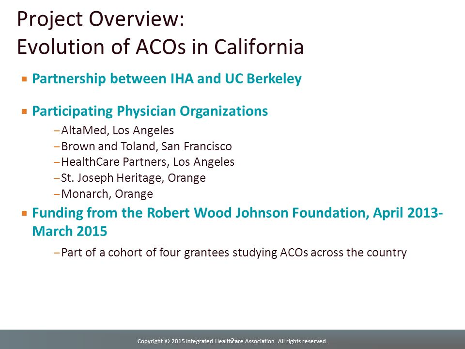 Physician Directory St Joseph Heritage Healthcare California >> Evolution Of Acos In California Ppt Download
