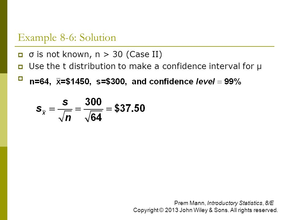 t distribution examples and solutions pdf