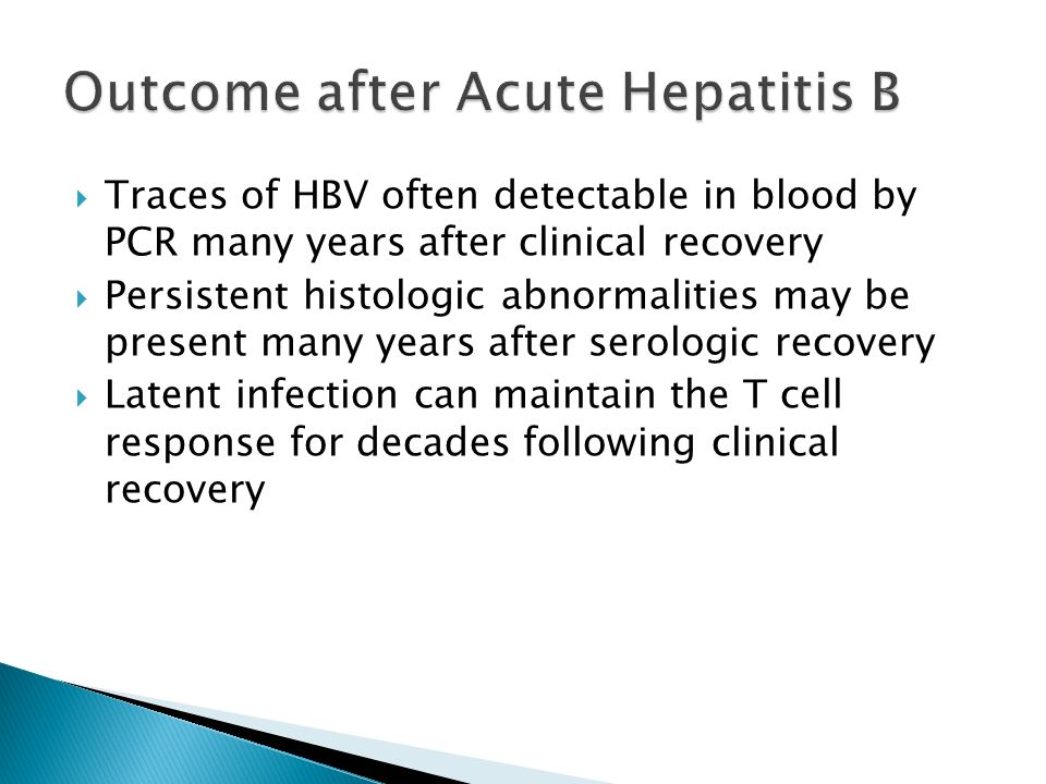 Outcome after Acute Hepatitis B