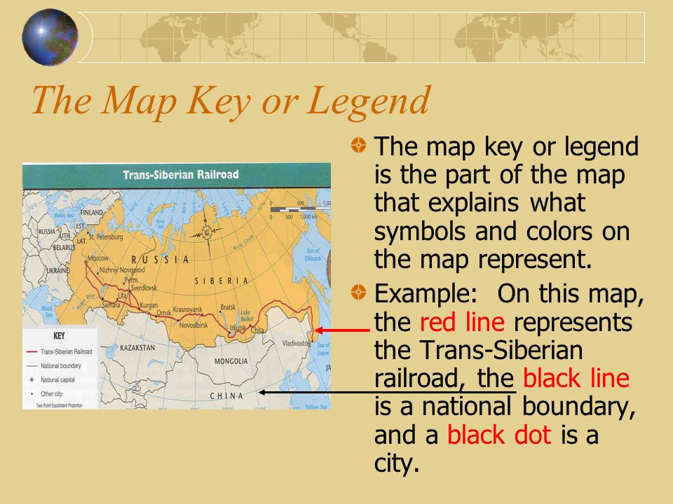Map essentials ppt video online download the map key or legend the map key or legend is the part of the map gumiabroncs Images
