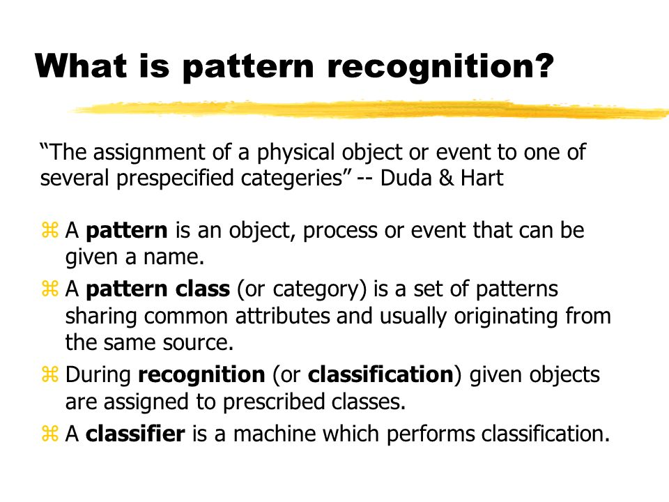 Introduction To Pattern Recognition Ppt Video Online Download Beauteous What Is Pattern