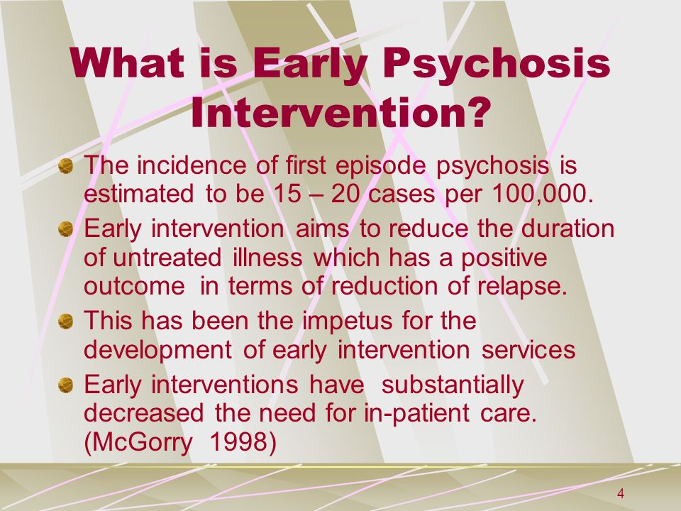 First Psychotic Episode Why Early >> An Introduction To Early Intervention Ppt Download