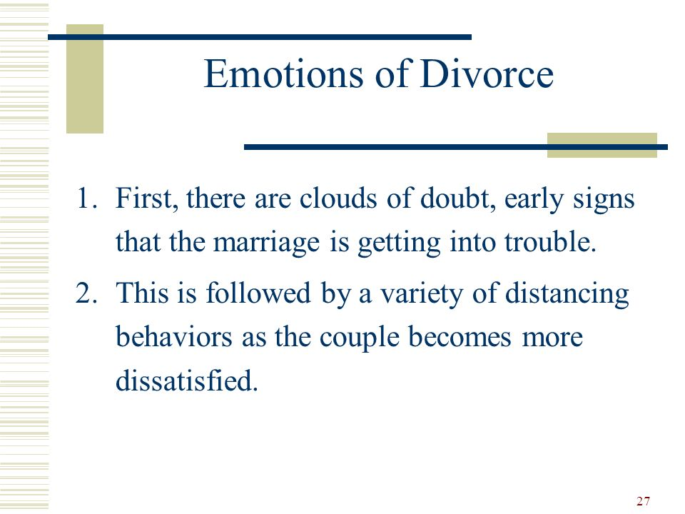 Divorce initiator emotions