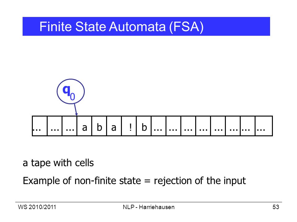 q Finite State Automata (FSA)