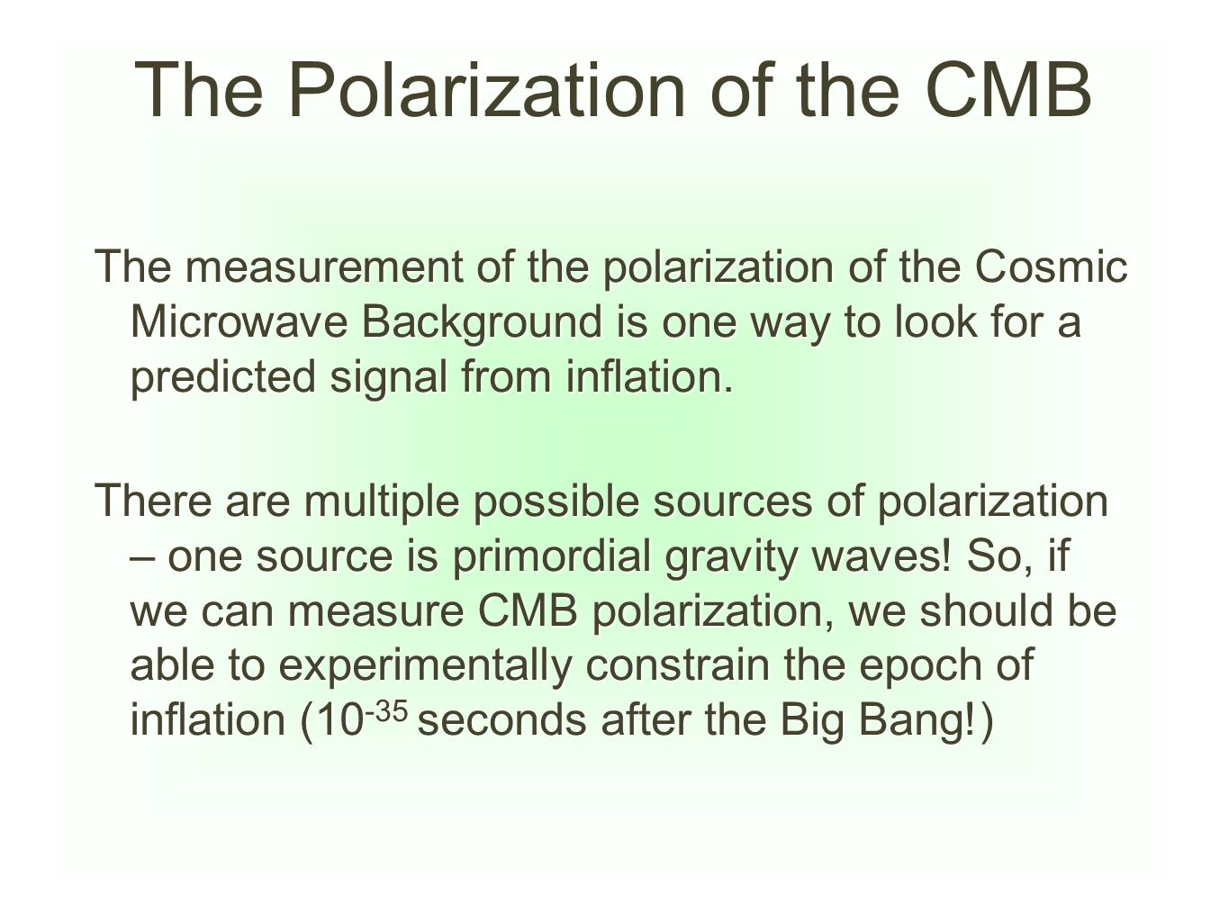 The Polarization of the CMB