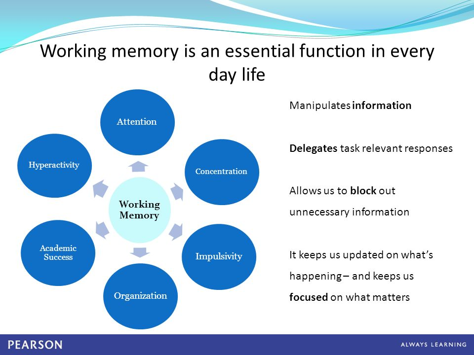 What Is Working Memory >> Cogmed Working Memory Training Informational Webinar Ppt