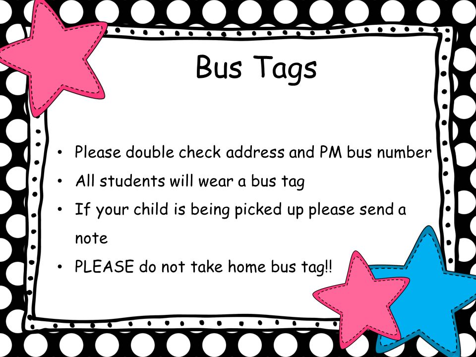 Bus Tags Please double check address and PM bus number