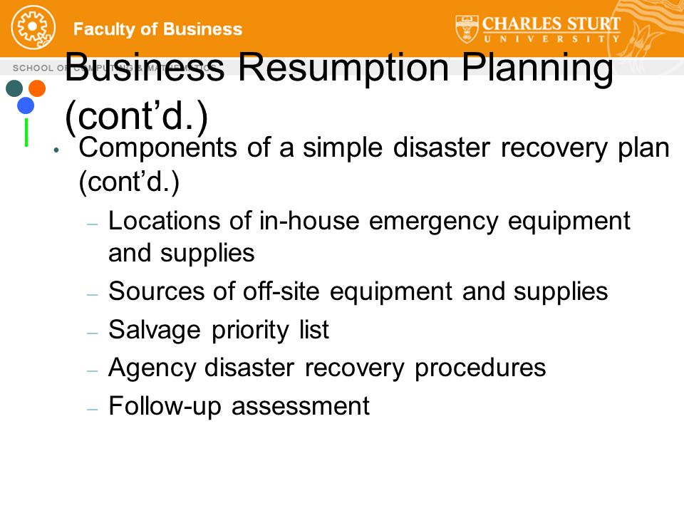 Itc358 ict management and information security ppt video online 71 business resumption wajeb Images