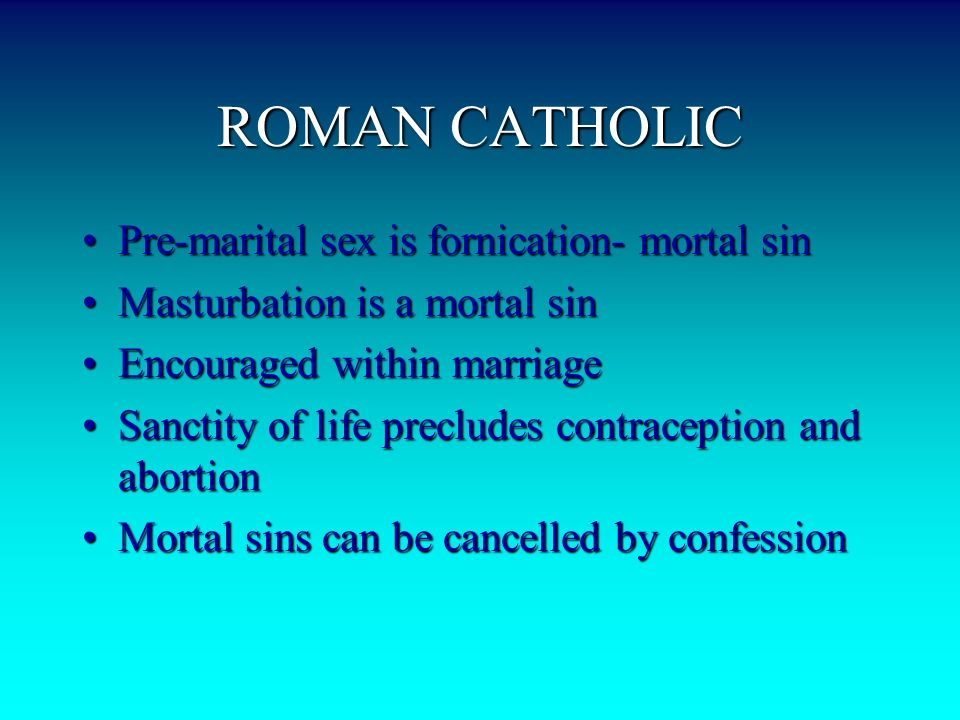 What is a mortal sin in the catholic religion