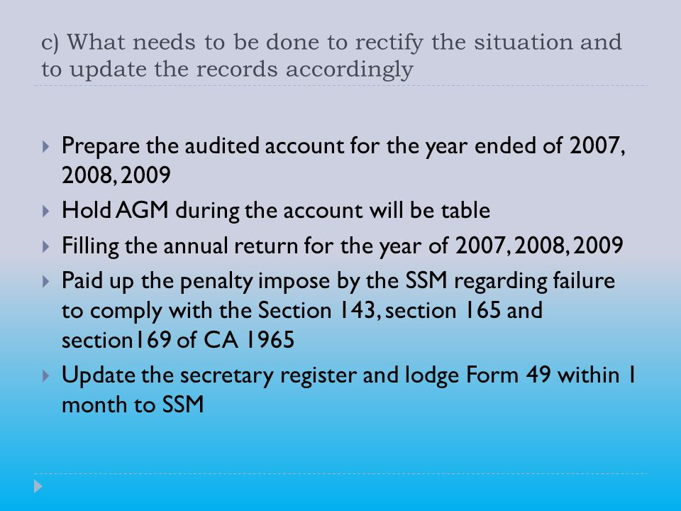Prepare the audited account for the year ended of 2007, 2008, 2009