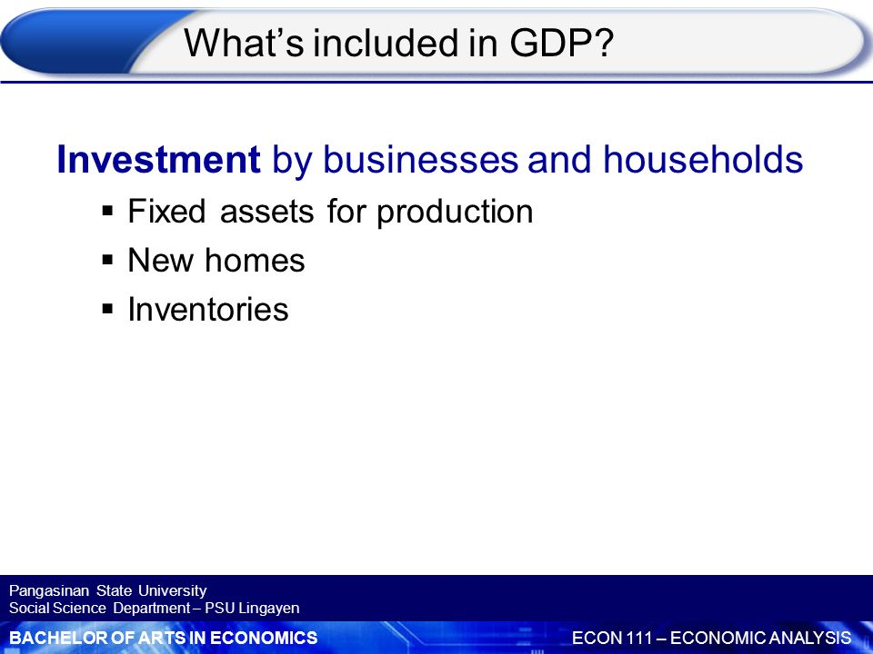 Investment by businesses and households