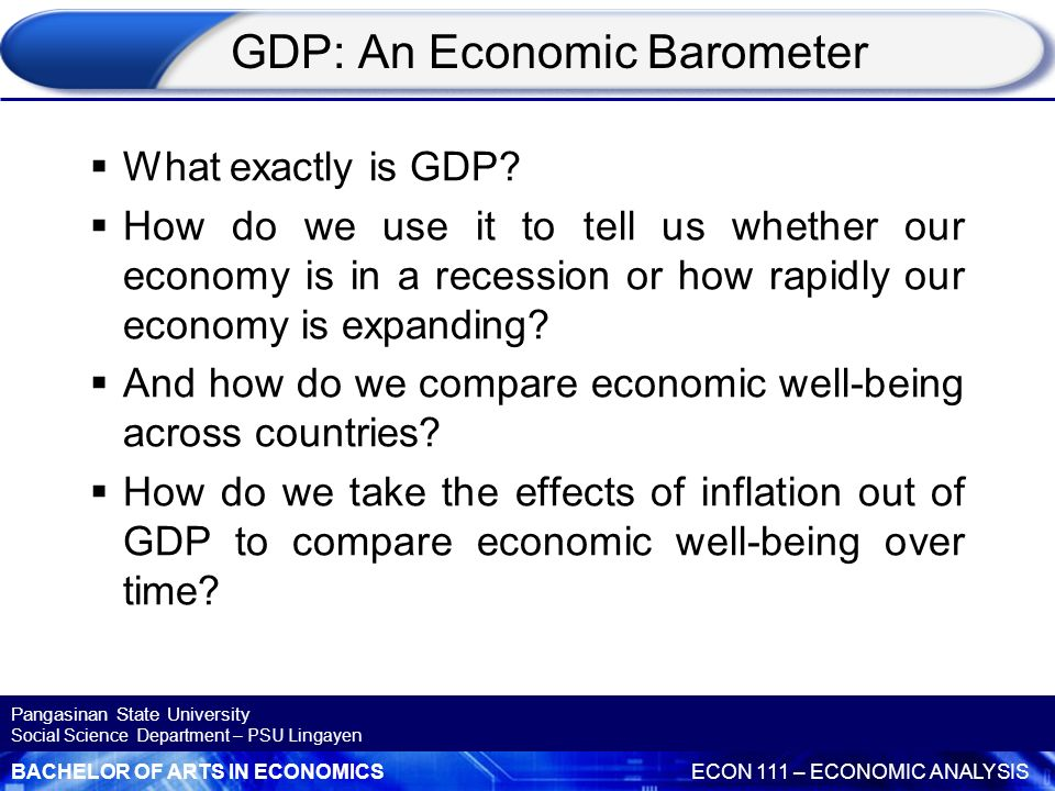 GDP: An Economic Barometer