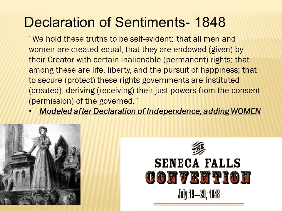 Declaration of Sentiments- 1848