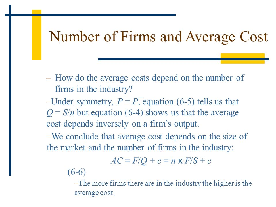 Number of Firms and Average Cost