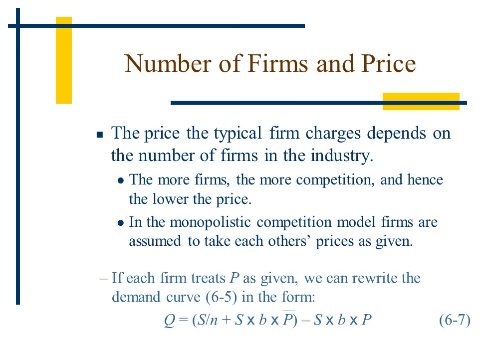 Number of Firms and Price