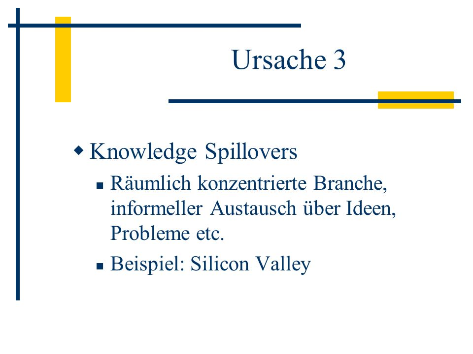 Ursache 3 Knowledge Spillovers