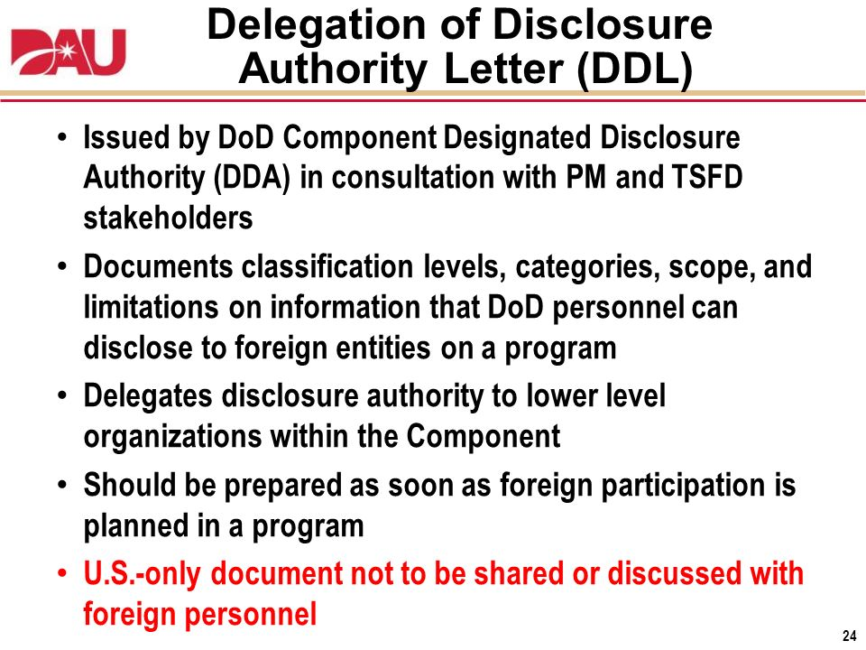 Delegation Of Disclosure Authority Letter from slideplayer.com