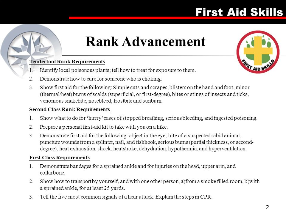 First Aid Merit Badge This Is A 5 Lesson Plan Which Can Be Run Over