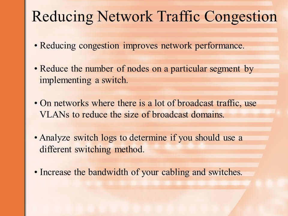 Reducing Network Traffic Congestion