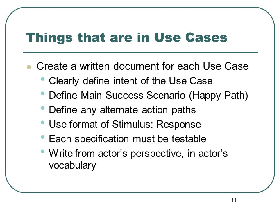 Things that are in Use Cases
